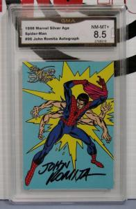 JOHN ROMITA AUTOGRAPH 1998 Marvel Silver-Age #28 Spider-Man Graded NM-MT+ 8.5