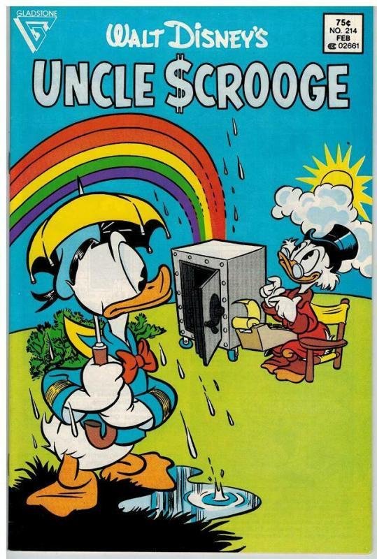 UNCLE SCROOGE 214 VF Feb. 1987 COMICS BOOK