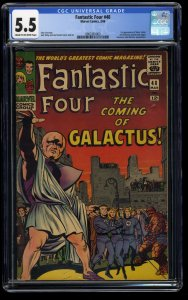 Fantastic Four #48 CGC FN- 5.5 Cream To Off White 1st Galactus Silver Surfer!