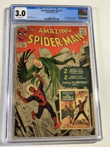 The Amazing Spider-Man #2 (Marvel, 1963) CGC Graded 3.0 1st Vulture