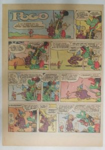 Pogo Sunday Page by Walt Kelly from 11/24/1957 Tabloid Size: 11 x 15 inches