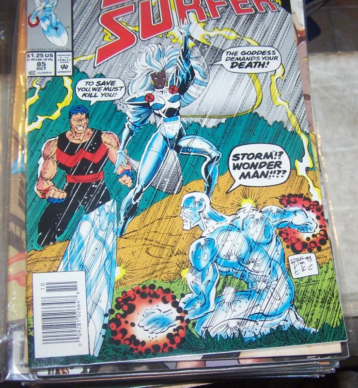 Silver Surfer #85  oct  1993, Marvel)  infinity crusade + thanos  goddess storm