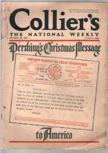 Collier's 12/22/1917-General Pershing Christmas message-Flagg art-Overland cars-