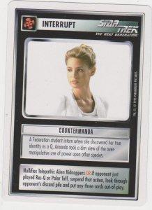 1995 Star Trek Trading Game Card Interrupt