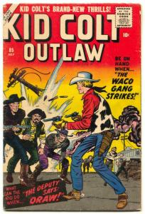 Kid Colt Outlaw #85 1959- Kirby cover- Western VG/F