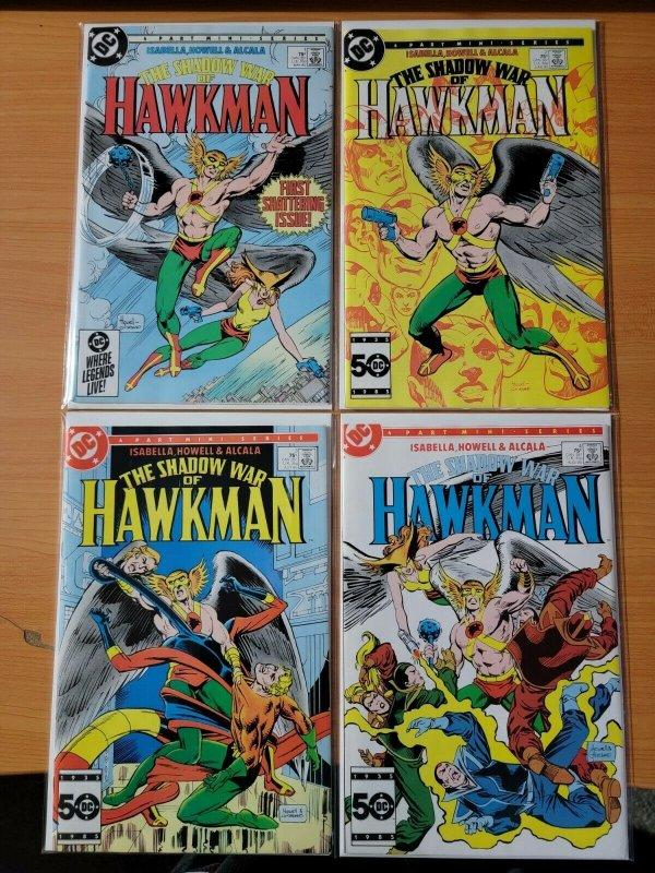 The Shadow War of Hawkman 1-4 Complete Set Run! ~ NEAR MINT NM ~ 1985 DC Comics