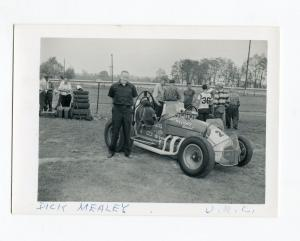 Dick Mealey-#28-URC-Sprint Car Photo-Roll Cage-1960's-VG