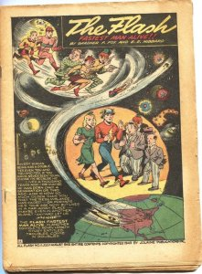 ALL-FLASH #11-1943-THE INVASION FROM SPACE-ROCKET SHIPS-SPACE TRAVEL--RARE