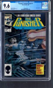 The Punisher Limited Series #1 CGC 9.6 NM+ White Pages Jigsaw Marvel 1/86