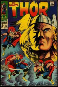 Thor #158 1966- Marvel Silver Age- Jack Kirby VG