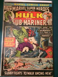 Marvel Super-Heroes #32 featuring The Hulk and Sub-Mariner