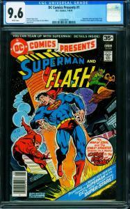 DC COMICS PRESENTS #1 CGC 9.6-1978-4th SUPERMAN-FLASH RACE 1240649001