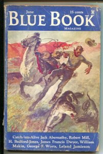 Blue Book 6/1935- McCall--Queen of Sheba by William Makin-Pulp thrills-G