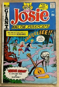 JOSIE AND THE PUSSYCATS #58 (Archie,10/1971) VERY GOOD PLUS (VG+) Dan DeCarlo
