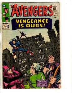 Avengers # 20 FN/VF Marvel Comic Book Captain America Quicksilver Witch FH2