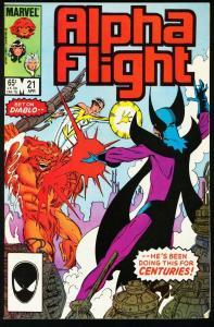 ALPHA FLIGHT #21-MARVEL COMICS-MUTANTS! NM