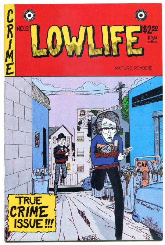 LOWLIFE #2, VF/NM, Ed Brubaker, Caliber, 1991, 1st, more indies in store