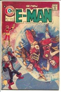 E-Man #9 1975-Charlton-Joe Stanton-John Byrne-Rog 2000-Nicola Cuti-VF-