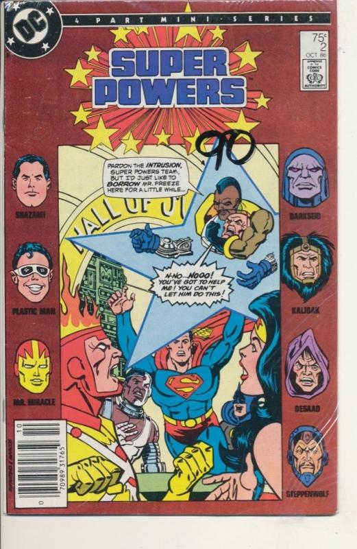 DC Super Powers #2 of 4 part mini-series VF/NM (9.0) Darkseid 1986 (630J)