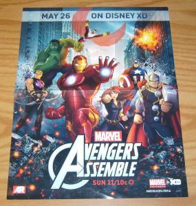 Avengers Assemble poster - 13.5  x 10 - disney XD - iron man - thor - hulk
