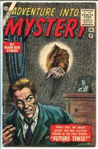 ADVENTURE INTO MYSTERY #1-1956-ATLAS-BILL EVERETT-SUB-MARINER-1ST ISSUE-vg