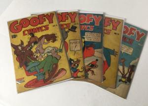 Goofy Comics 4.0-5.5 6 9 11 12 17 Nedor Publishing