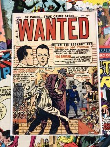 Wanted Comics #36 F 6.0 true crime cases 10c GOLDEN AGE americana 1951 TOYTOWN