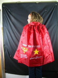 SUPERMAN/WONDER WOMAN CAPE-RARE DC PROMO- Lois and Clark/Wonder Woman