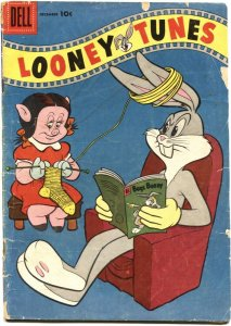 LOONEY TUNES #182-1956-BUGS BUNNY READS A COMIC BOOK on COVER-DELL