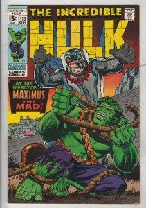 Incredible Hulk #119 (Sep-69) VF+ High-Grade Hulk
