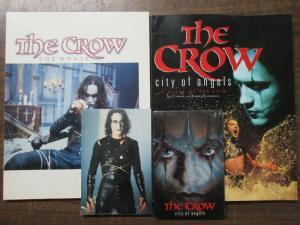 The Crow 1994 + City of Angels Movie Book Set with Postcards Brandon Lee +