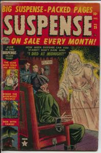 Suspense #25 1953-Atlas-Joe Sinnott vampire bondage story-pre-code horror-VG/FN