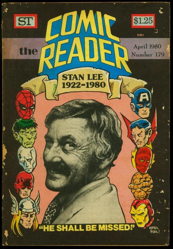 Comic Reader #179 1980- Fanzine- Stan Lee photo cover G