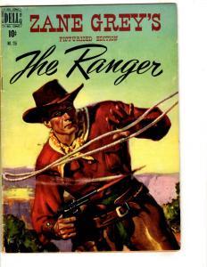 Four Color # 255 FN Dell Golden Age Comic Book Zane Grey Ranger Western JL14