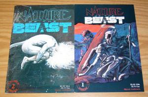 Nature of the Beast #1-2 VF/NM complete series - caliber comics - set lot 1991