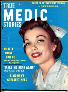 True medic Stories  5/1957-nurse photo cover-hypnosis-exploitation-FN+