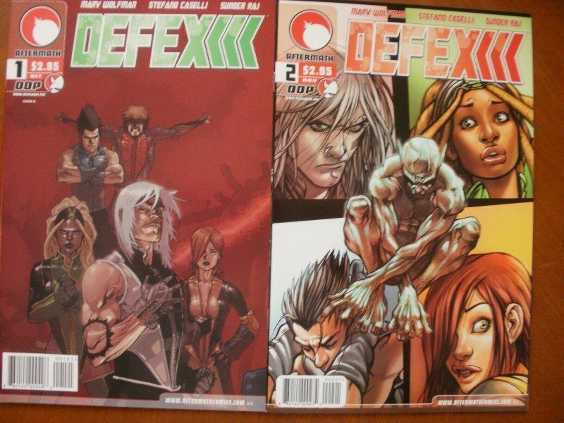 2 DDP Aftermath DEFEX Comic #1 #2 (2004) Wolfman Caselli Raj