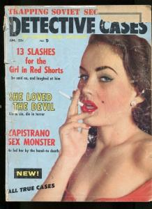 DETECTIVE CASES-01/1958-LUST CRAZED HANGMAN-SOVIET SECRET AGENTS FR/G