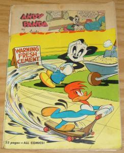 Walter Lantz New Funnies #168 february 1951 - woody woodpecker andy panda 52 pgs