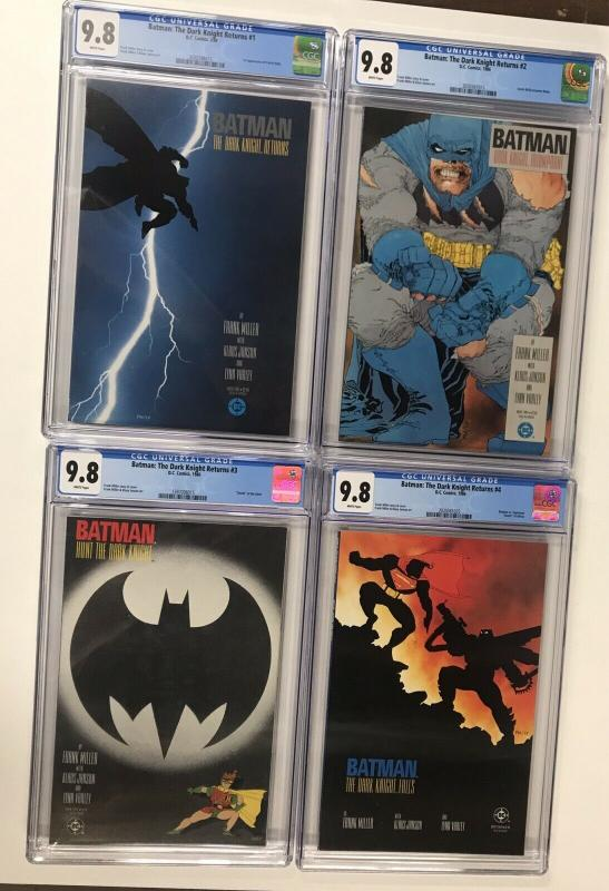Batman The Dark Knight Returns 1 2 3 4 1-4 Cgc 9.8 White Pages All 1st Print Dc