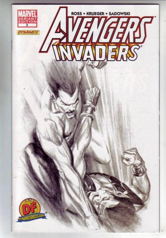 Avengers Invaders Signed #3 (Sep-08) NM- High-Grade The Invaders