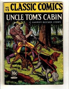 Classics Illustrated #15 FN- HRN #14 Gilberton Comic Book Uncle Tom's Cabin JL26