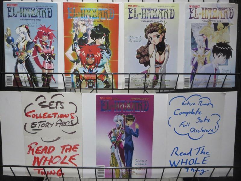 EL HAZARD: THE MAGNIFICENT WORLD Vol. 2 (Viz,2001) #1-5 Complete! Manga!