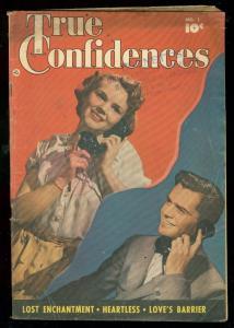 TRUE CONFIDENCES #1 1949-FAWCETT PHOTO COVER-GOOD GIRL VG