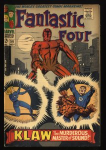 Fantastic Four #56 VG+ 4.5 Marvel Comics