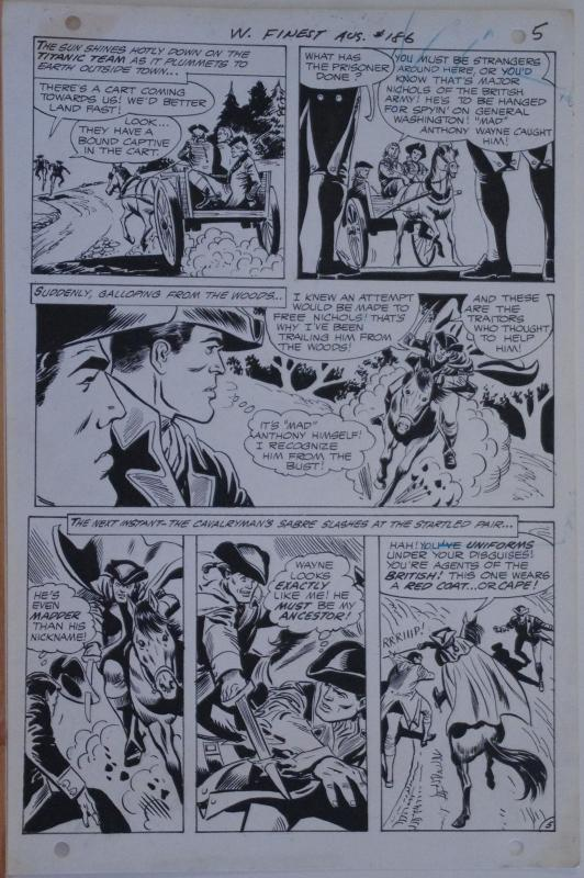 ROSS ANDRU / ESPOSITO original art, WORLD'S FINEST #186, 1969, Mad Anthony Wayne