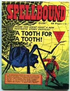 SPELLBOUND #64 SPIDER COVER BRITISH COMICS RARE FN