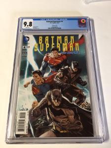 Batman Superman 4 Cgc 9.8 Variant White Pages