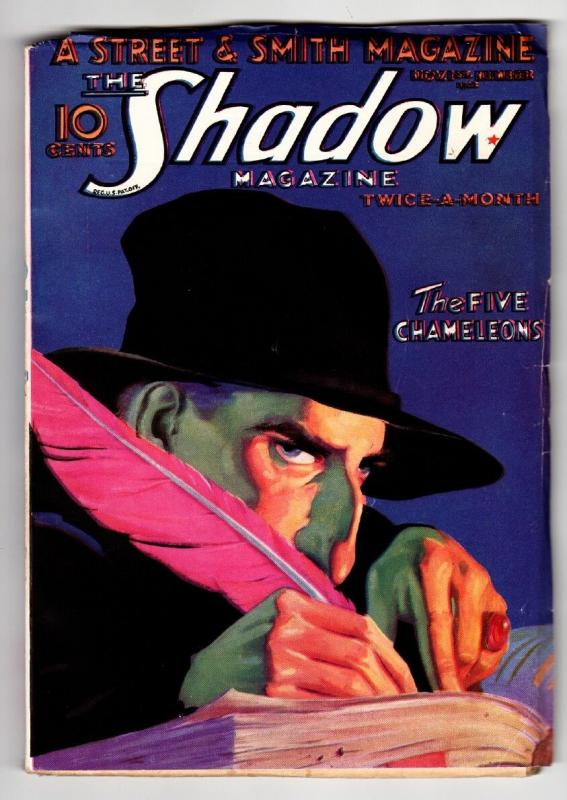 SHADOW 1932 November 1 HIGH GRADE-STREET AND SMITH-RARE PULP FN/VF