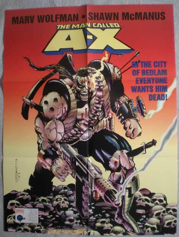 MAN CALLED A-X Promo poster, 18x24, 1994,  Unused, more Promos in store